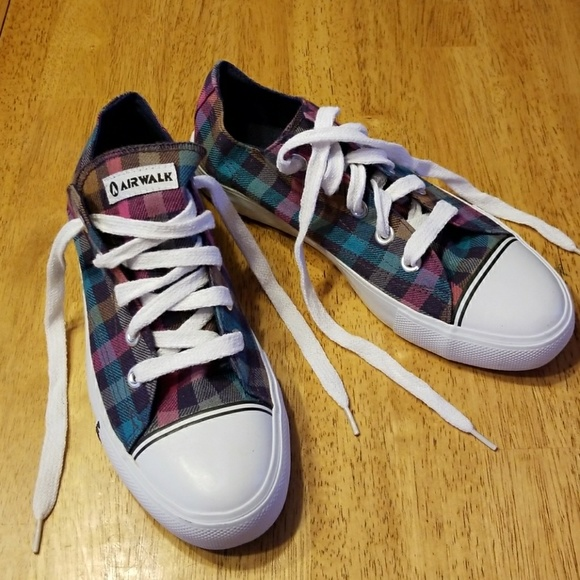 e36fb0b5fefd Airwalk Canvas Multi Color Check Sneakers
